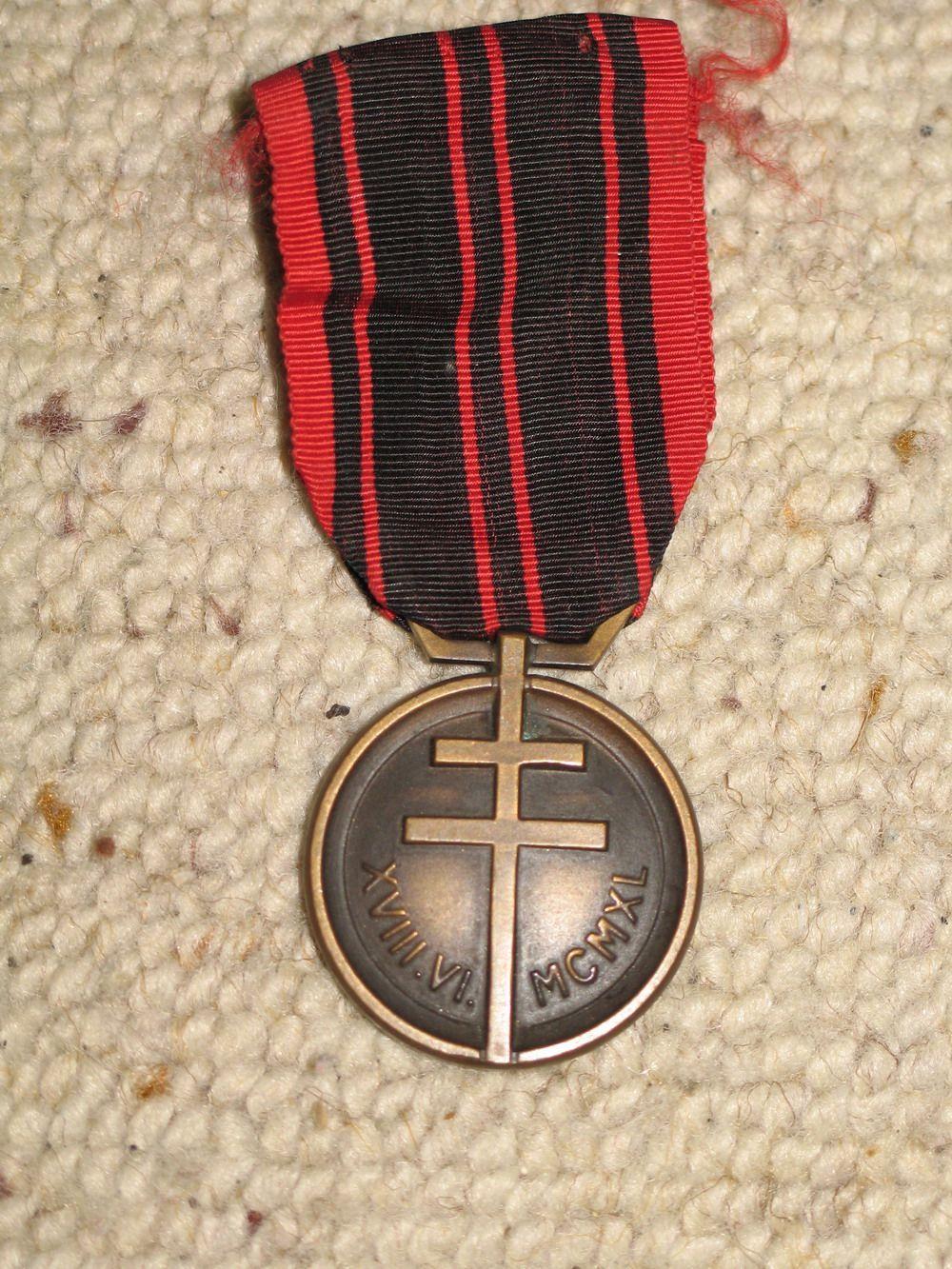 médailles de la résistance guerre 39-45